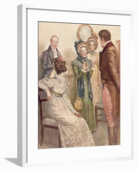 Scene from Jane Austen's last novel Persuasion, written in 1816 and published posthumously in 1818--Framed Photographic Print