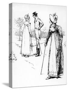 Scene from Jane Austen's Novel Emma Which Was First Published in 1816