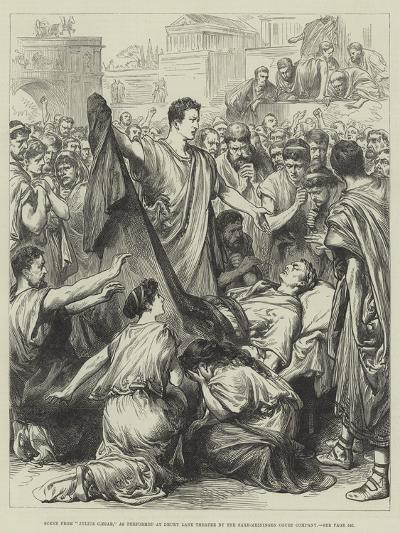 Scene from Julius Caesar, as Performed at Drury Lane Theatre by the Saxe-Meiningen Court Company--Giclee Print