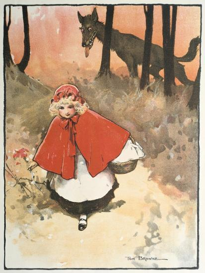 Scene from Little Red Riding Hood, 1900-Tom Browne-Giclee Print