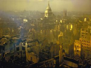 Scene from London after Heavy German Air Raid Bombing Attacks During the Battle of Britain
