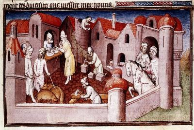 Scene from Marco Polo's Book of Marvels, Early 15th Century--Giclee Print
