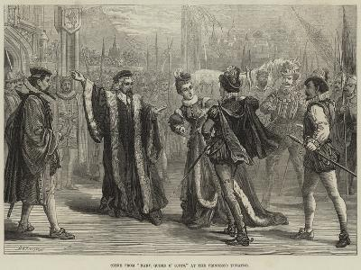 Scene from Mary, Queen of Scots, at the Princess's Theatre-David Henry Friston-Giclee Print
