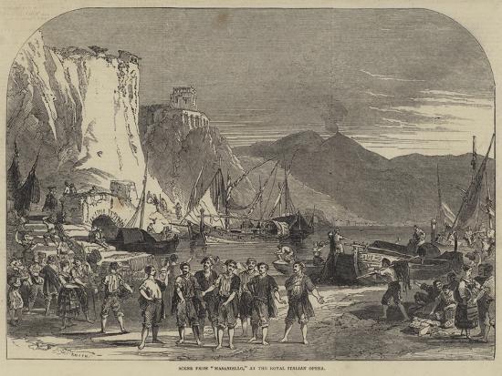 Scene from Masaniello, at the Royal Italian Opera--Giclee Print