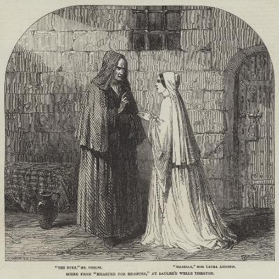Scene from Measure for Measure, at Sadler's Wells Theatre--Giclee Print