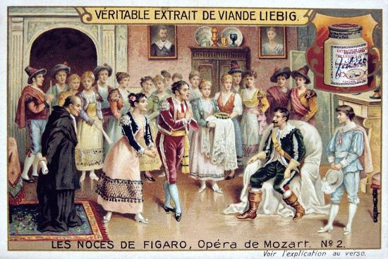 Scene from Mozart's Opera the Marriage of Figaro, 1786--Giclee Print