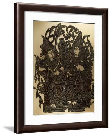 Scene from Nang Yai Shadow Puppet Theatre Representing Dasakantha and His Wives--Framed Giclee Print