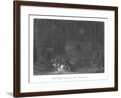 Scene from Old St Paul's by William Harrison Ainsworth, 1855-John Franklin-Framed Giclee Print