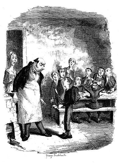 Scene from Oliver Twist by Charles Dickens, 1836-James Mahoney-Giclee Print
