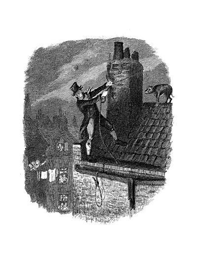 Scene from Oliver Twist by Charles Dickens, 1837-George Cruikshank-Giclee Print