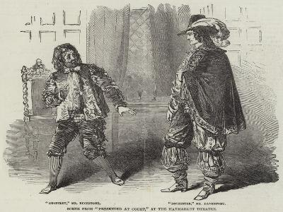 Scene from Presented at Court, at the Haymarket Theatre--Giclee Print