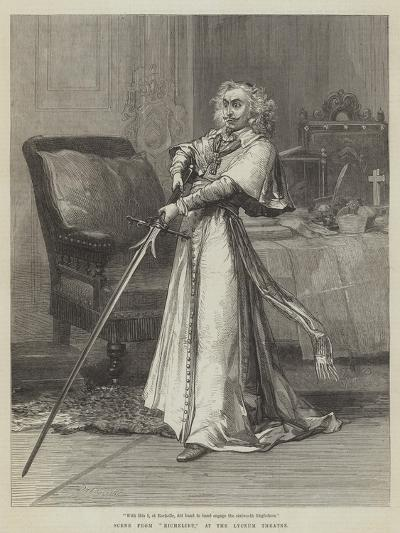 Scene from Richelieu, at the Lyceum Theatre-David Henry Friston-Giclee Print
