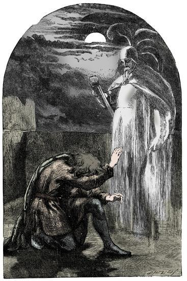 Scene from Shakespeare's Hamlet, 19th century-Unknown-Giclee Print
