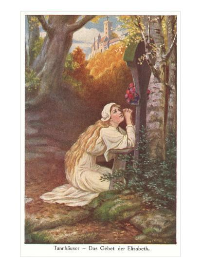 Scene from Tannhauser, Elizabeth's Prayer--Art Print