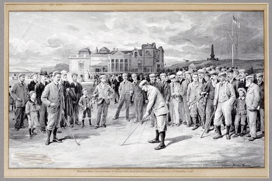 Scene from the Amateur Golf Championship, St Andrews, 1895-Unknown-Giclee Print