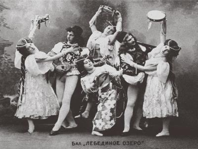 Scene from the Ballet Swan Lake, Mariinsky Theatre, 1895--Giclee Print