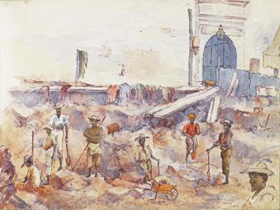 Scene from the Boer War, from a Sketchbook, 1896--Giclee Print
