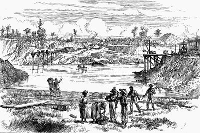 Scene from the De Lesseps Attempt to Dig the Panama Canal, 1888--Giclee Print