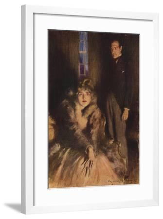 Scene from the Forsyte Saga-Arthur C. Michael-Framed Giclee Print