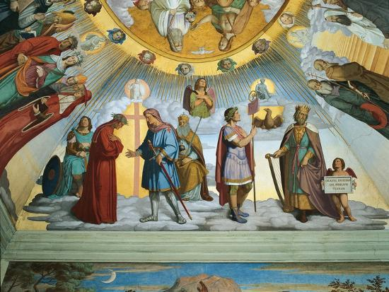 Scene from 'The Heavens of the Blessed and the Empyrean', Dante Room-Philipp Veit-Giclee Print