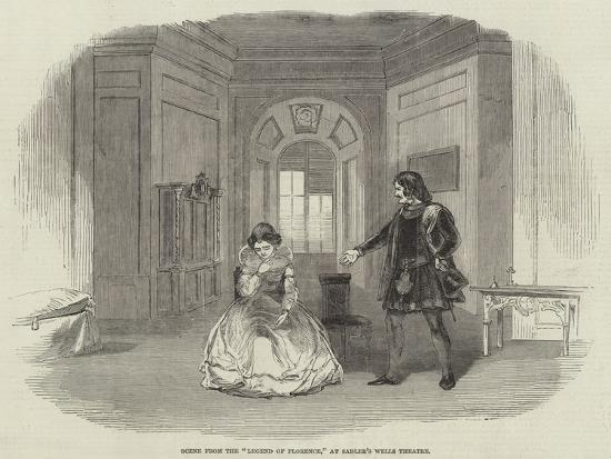 Scene from the Legend of Florence, at Sadler's Wells Theatre--Giclee Print