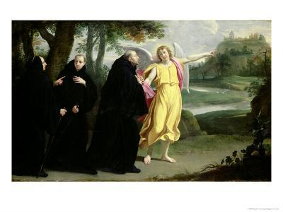 Scene from the Life of St. Benedict-Philippe De Champaigne-Giclee Print