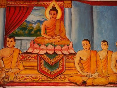 Scene from the Life of the Buddha, Vientiane, Laos, Indochina, Southeast Asia, Asia-Godong-Photographic Print