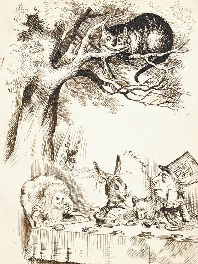 Scene from the Mad Hatter's Tea Party, C.1865-John Tenniel-Giclee Print