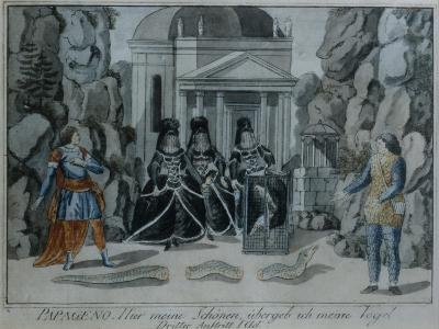 Scene from 'The Magic Flute' by Wolfgang Amadeus Mozart-German School-Giclee Print
