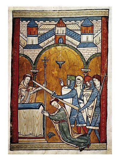 Scene from the Murder of Saint Thomas Becket-John of Salisbury-Art Print
