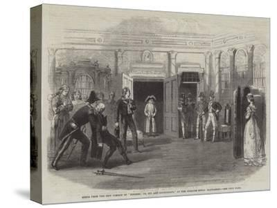 Scene from the New Comedy of Finesse; Or, Spy and Counterspy, at the Theatre Royal Haymarket--Stretched Canvas Print