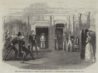 Scene from the New Comedy of Finesse; Or, Spy and Counterspy, at the Theatre Royal Haymarket--Giclee Print