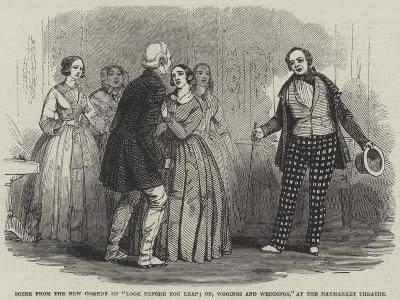 Scene from the New Comedy of Look before You Leap; Or--Giclee Print