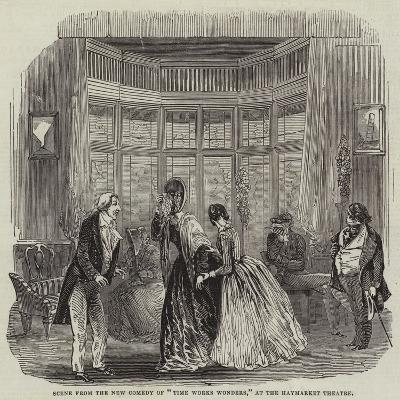 Scene from the New Comedy of Time Works Wonders, at the Haymarket Theatre--Giclee Print