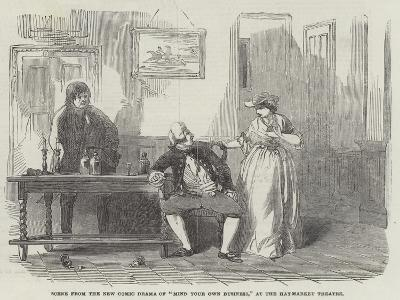 Scene from the New Comic Drama of Mind Your Own Business, at the Haymarket Theatre--Giclee Print