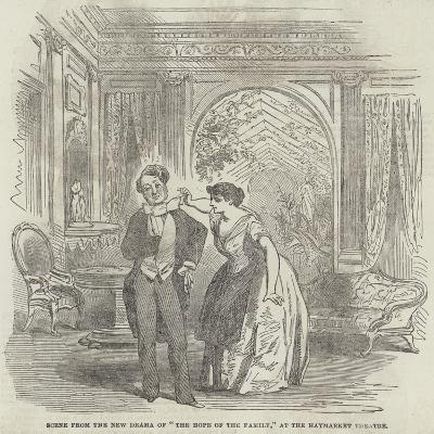 Scene from the New Drama of The Hope of the Family, at the Haymarket Theatre--Giclee Print