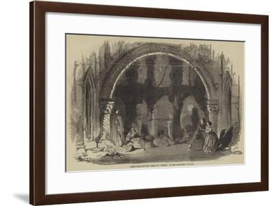Scene from the New Opera of Berta, at the Haymarket Theatre--Framed Giclee Print