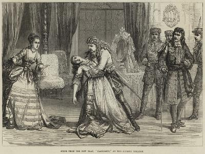 Scene from the New Play, Clancarty, at the Olympic Theatre-David Henry Friston-Giclee Print