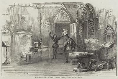 Scene from the New Play of The First Printer, at the Princess' Theatre--Giclee Print