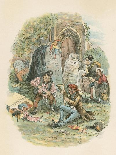Scene from the Old Curiosity Shop by Charles Dickens, 1841-Hablot Knight Browne-Giclee Print