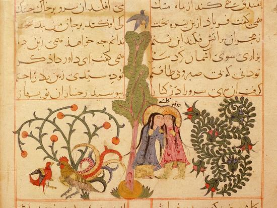 Scene from the only known illustrated manuscript of the poem, the Romance of Varqa and Gulshah-Werner Forman-Giclee Print