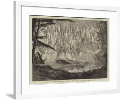 Scene from the Pantomime Babes in the Wood at Covent Garden Theatre--Framed Giclee Print