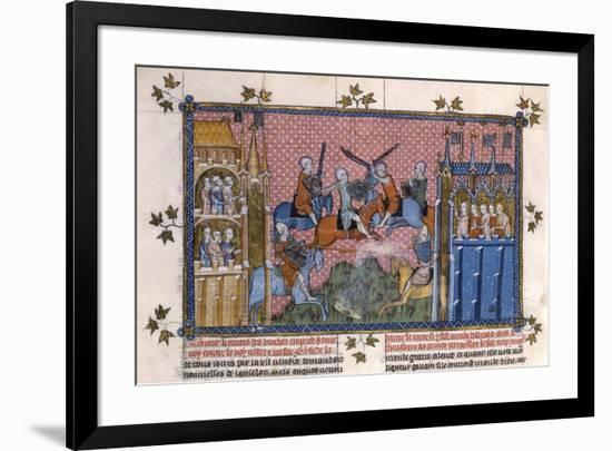 Scene from the Romance of Lancelot of the Lake- Gautier-Framed Giclee Print