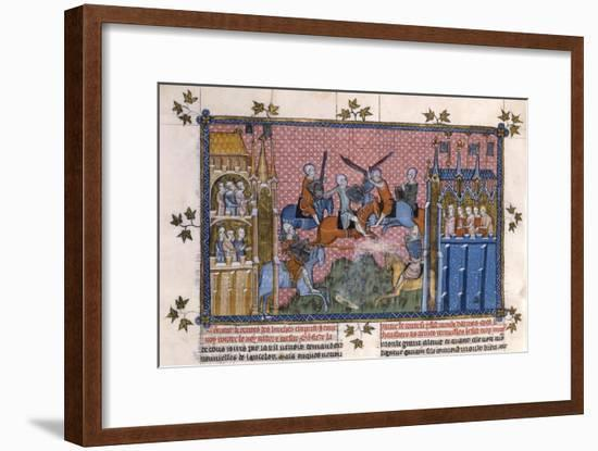 Scene from the Romance of Lancelot of the Lake- Gautier-Framed Giclee Print