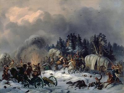 Scene from the Russian-French War in 1812-Bogdan Willewalde-Giclee Print
