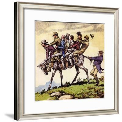 Scene from the Song Uncle Tom Cobbleigh-Pat Nicolle-Framed Giclee Print