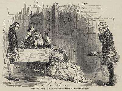 Scene from The Vicar of Wakefield, at the New Strand Theatre--Giclee Print