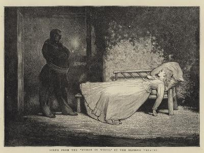 Scene from the Woman in White, at the Olympic Theatre-Sir James Dromgole Linton-Giclee Print