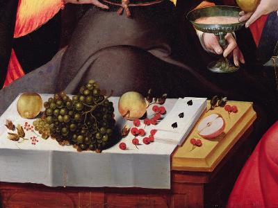 Scene Galante at the Gates of Paris, Detail of Fruits, Playing Cards and a Goblet--Giclee Print