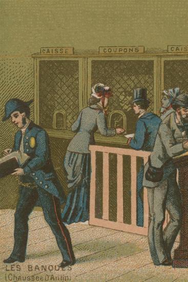 Scene in a Bank--Giclee Print